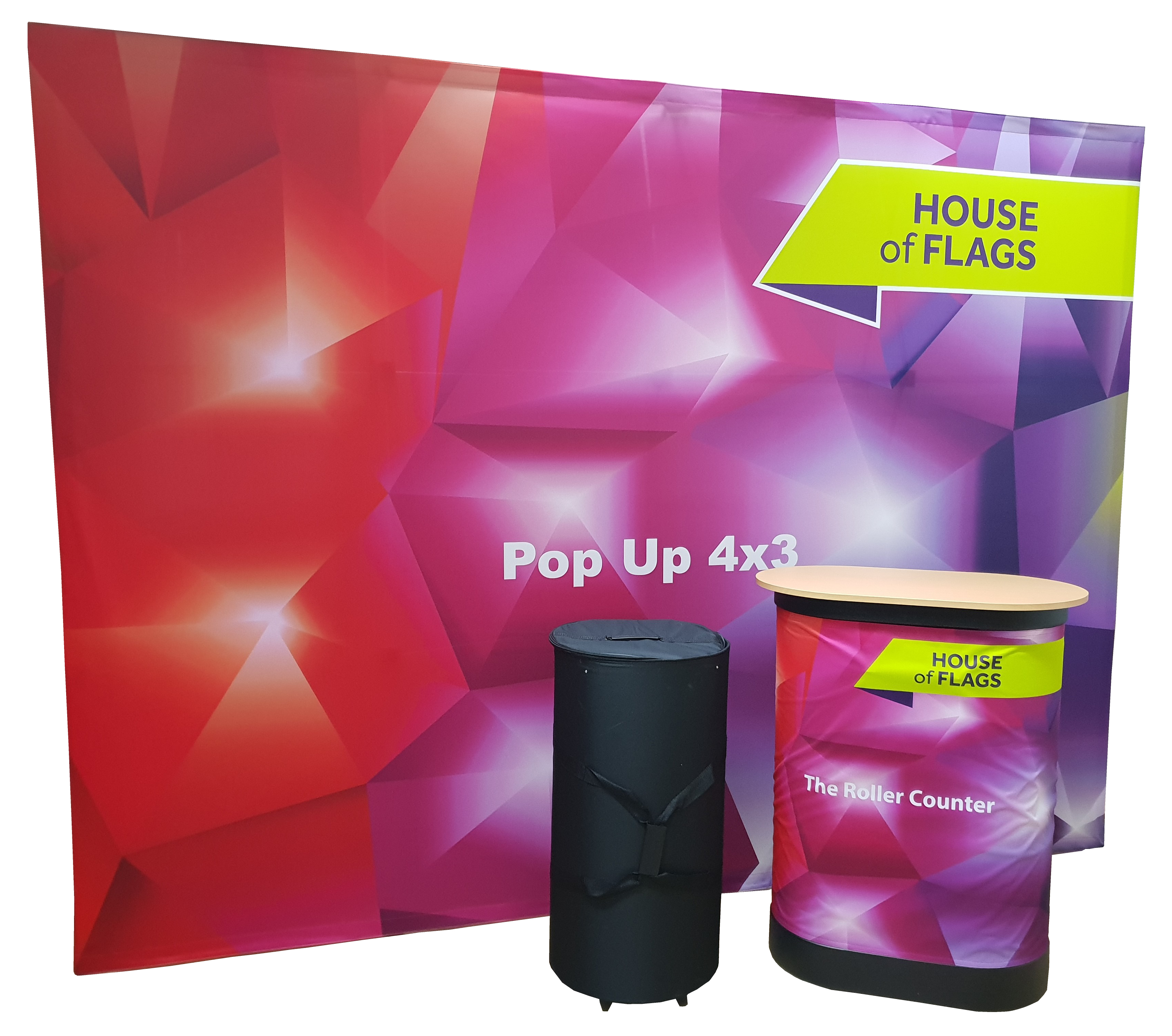 Exhibition Stand Carry Cases : Wheeled counter case branded exhibition counter display coverings