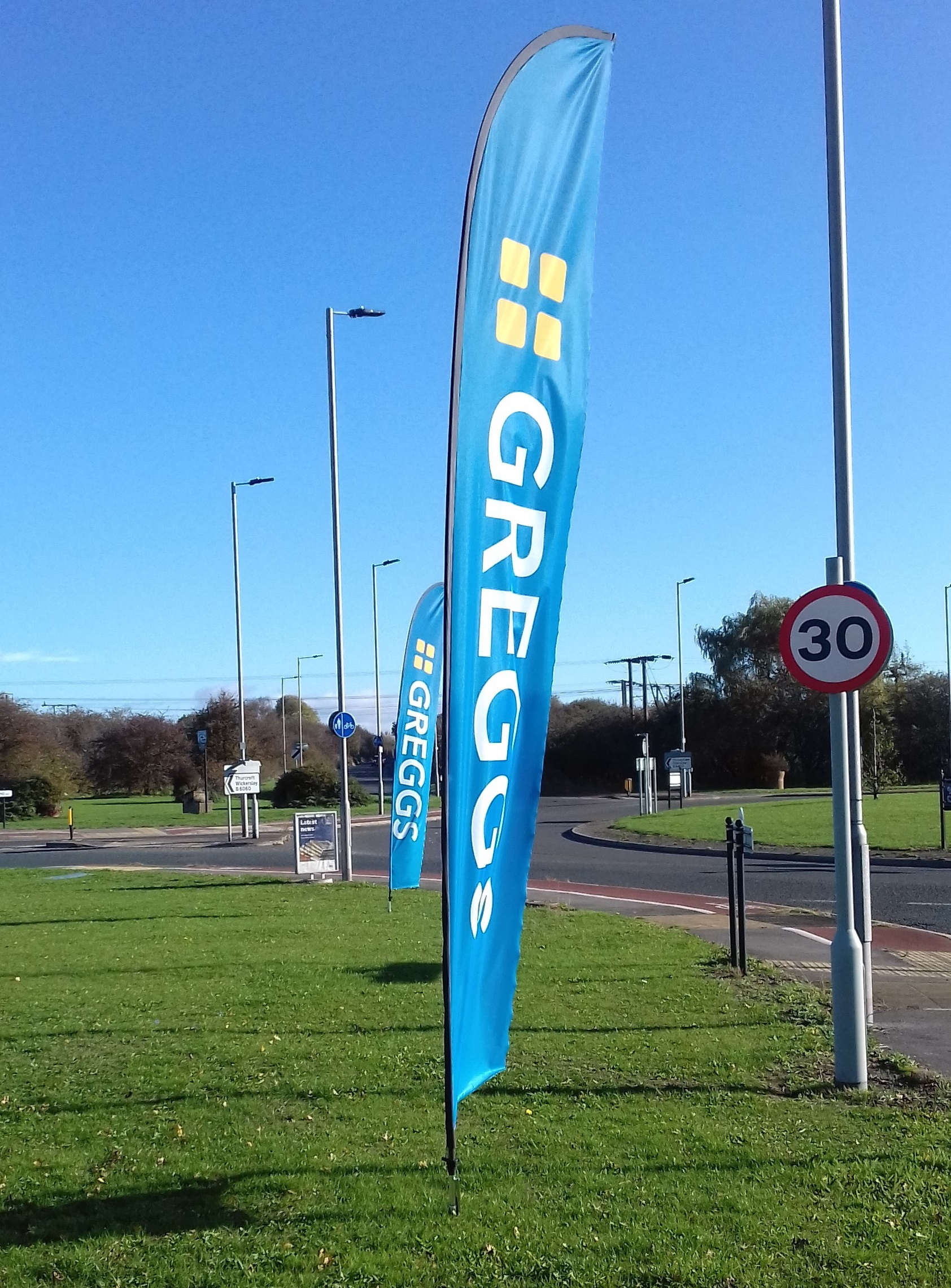 Greggs feather flags