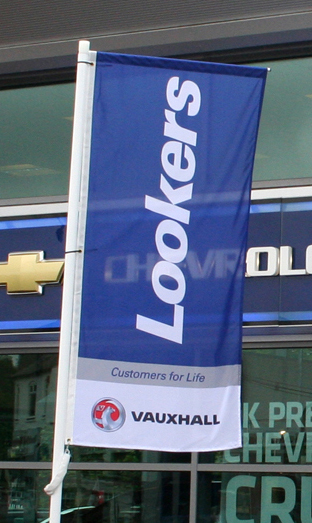 forecourt flags and poles